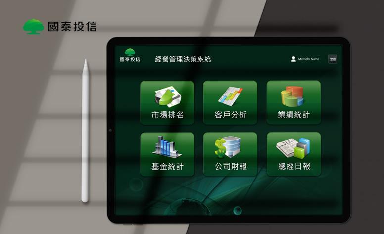 國泰投信-經營決策管理系統 網頁設計